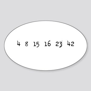 4815162342 LOST Numbers Oval Sticker