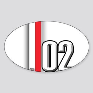 2002 Red White Sticker (Oval)