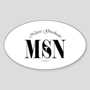 MSN Nurse Graduate Sticker (Oval) BL