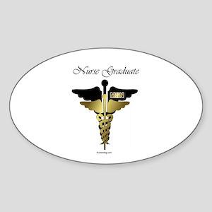 MSN Graduate Sticker (Oval) BCD