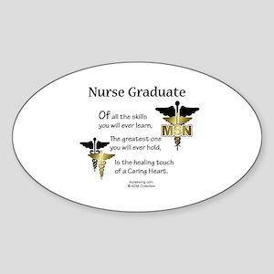 MSN Nurse Graduate Oval Sticker CD