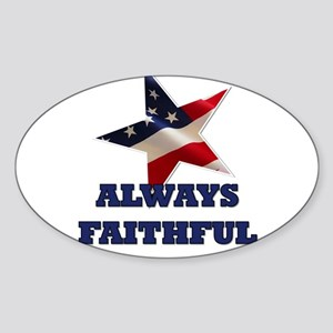Always Faithful Sticker (Oval)