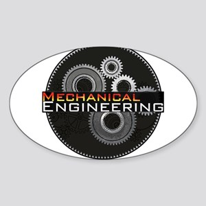 Mechanical Engineering Sticker (Oval)