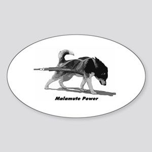 Malamute Power Sticker (Oval)