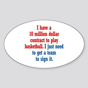 Basketball Contract Sticker (Oval)