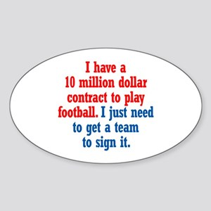 Football Contract Sticker (Oval)