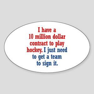 Hockey Contract Sticker (Oval)
