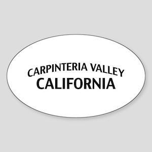 Carpinteria Valley California Sticker (Oval)