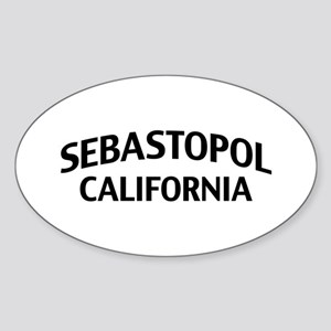 Sebastopol California Sticker (Oval)