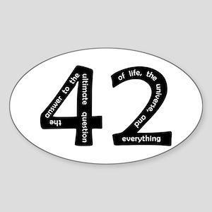 42 Sticker (Oval)