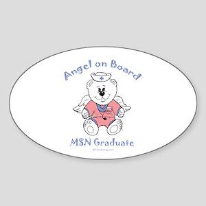 MSN Nurse Graduate Sticker (Oval) PT