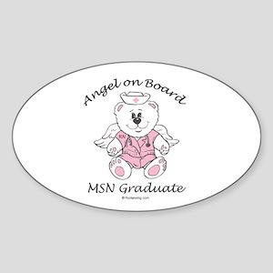 MSN Nurse Graduate Sticker (Oval) PD