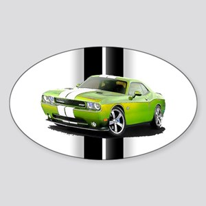 New Challenger Green Sticker (Oval)