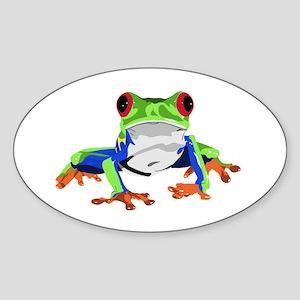 Frog Sticker (Oval)