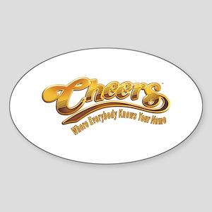 Cheers Logo Sticker (Oval)