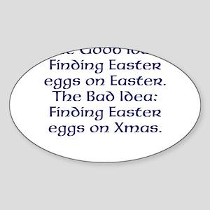 Easter #1 Sticker (Oval)