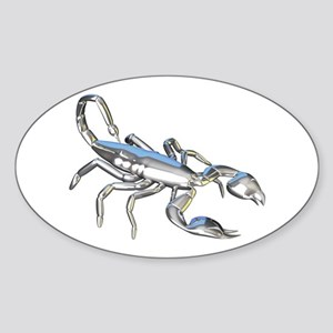 Chrome Scorpion 1 Sticker (Oval)