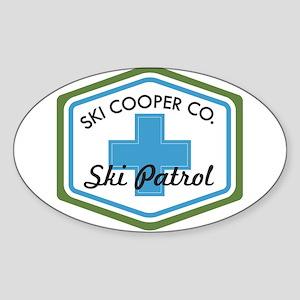 Ski Cooper Ski Patrol Badge Sticker (Oval)