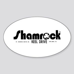 SHAMROCK LOGO 1 BLACK Sticker (Oval)