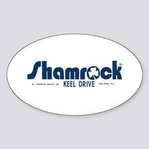 SHAMROCK LOGO 1 BLUE Sticker (Oval)