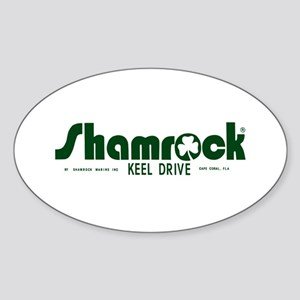 SHAMROCK LOGO 1 GREEN Sticker (Oval)