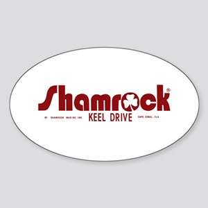 SHAMROCK LOGO 1 RED Sticker (Oval)