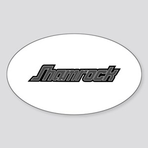 SHAMROCK LOGO 3 GRAY Sticker (Oval)