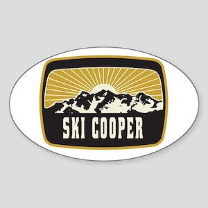 Ski Cooper Sunshine Patch Sticker (Oval)