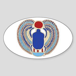 Tutankhamons Glyph Sticker (Oval)