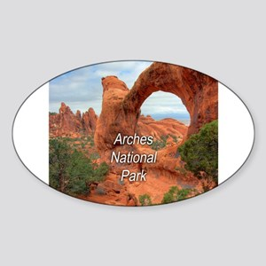 Arches National Park Sticker (Oval)
