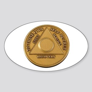 Alcoholics Anonymous Anniversary Chip Sticker