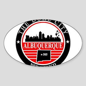 Albuquerque logo black and red Sticker