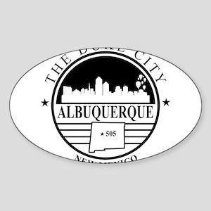 Albuquerque logo white and black Sticker