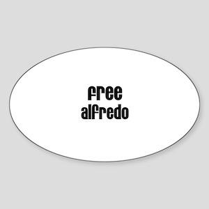 Free Alfredo Oval Sticker