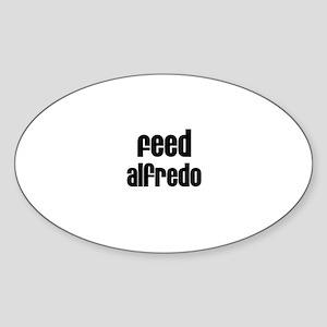 Feed Alfredo Oval Sticker