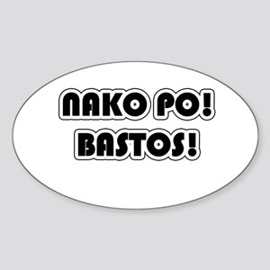 Tagalog Bastos Filipino Pinay Pinoy Oval Sticker