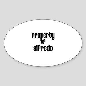 Property of Alfredo Oval Sticker