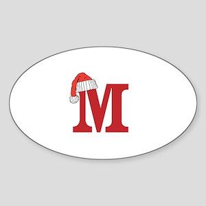 Letter M Christmas Monogram Sticker