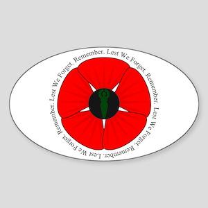 Goddess Poppy Sticker (Oval)