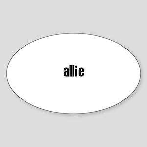 Allie Oval Sticker