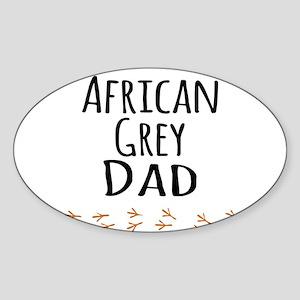 African Grey Dad Sticker