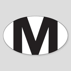 Letter M Black Sticker