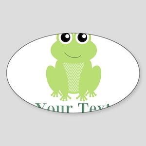 Personalizable Green Frog Sticker