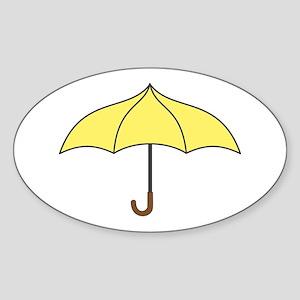Yellow Umbrella Sticker (Oval)