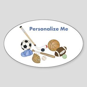 Personalized Sports Sticker (Oval)
