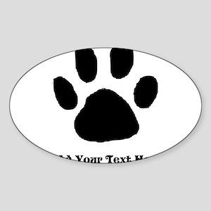 Paw Print Template Sticker