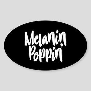 Melanin Poppin Sticker (Oval)