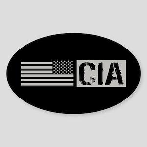CIA: CIA (Black Flag) Sticker (Oval)