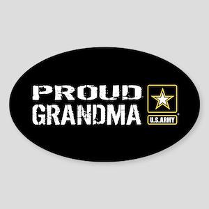 U.S. Army: Proud Grandma (Black) Sticker (Oval)