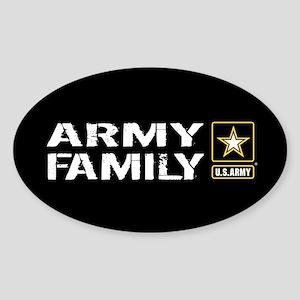 U.S. Army: Family (Black) Sticker (Oval)
